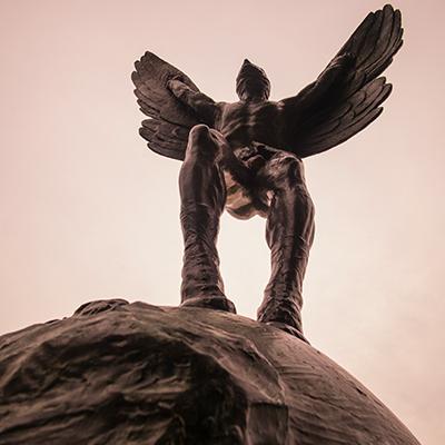 Aviator statue